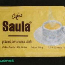 Sobres de azúcar de colección: SOBRE DE AZÚCAR DE CAFÉS SAULA. 7/8 GR.. Lote 172142032