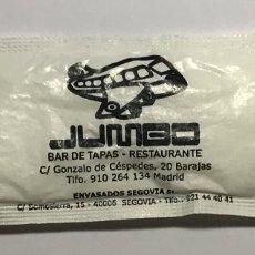 Pacotes de Açúcar de coleção: SOBRE DE AZUCAR LLENO, JUMBO BAR DE TAPAS RESTAURANTE BARAJAS MADRID. Lote 172249154