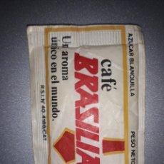 Bustine di zucchero di collezione: SOBRE DE AZUCAR CAFE BRASILIA . PUBLICIDAD ISETA. Lote 172480685