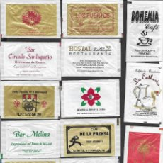 Sobres de azúcar de colección: 13 SOBRES DE AZÚCAR NOMINATIVOS. Lote 175852810