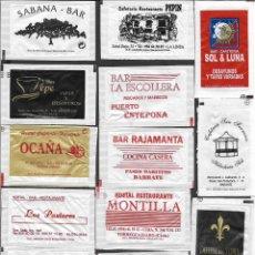 Sachets de sucre de collection: 13 SOBRES DE AZÚCAR NOMINATIVOS. Lote 175852959