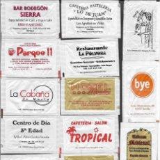 Sobres de azúcar de colección: 13 SOBRES DE AZÚCAR NOMINATIVOS. Lote 175852977