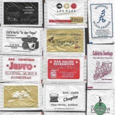 Sachets de sucre de collection: 13 SOBRES DE AZÚCAR NOMINATIVOS. Lote 175852990