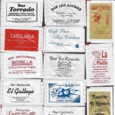 Sobres de azúcar de colección: 13 SOBRES DE AZÚCAR NOMINATIVOS. Lote 175853162