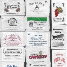 Sachets de sucre de collection: 13 SOBRES DE AZÚCAR NOMINATIVOS. Lote 175853169