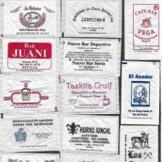 Sachets de sucre de collection: 13 SOBRES DE AZÚCAR NOMINATIVOS. Lote 175853182