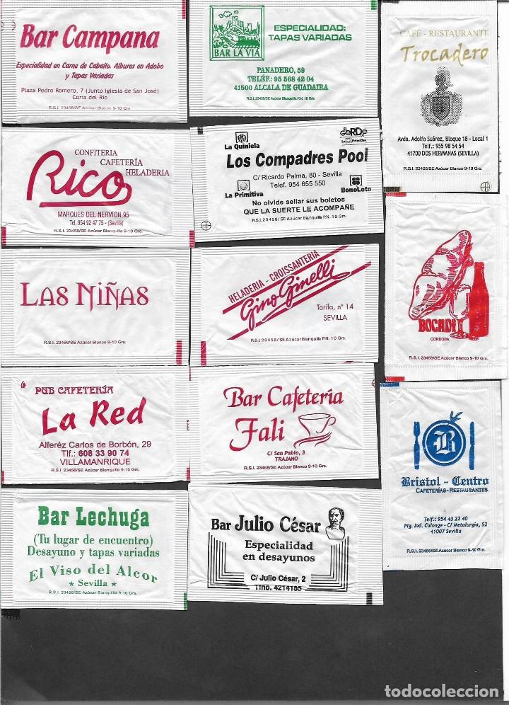 13 SOBRES DE AZÚCAR NOMINATIVOS (Coleccionismos - Sobres de Azúcar)