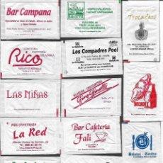 Sachets de sucre de collection: 13 SOBRES DE AZÚCAR NOMINATIVOS. Lote 175853204