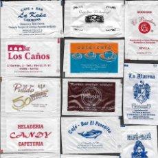 Sachets de sucre de collection: 13 SOBRES DE AZÚCAR NOMINATIVOS. Lote 175853254