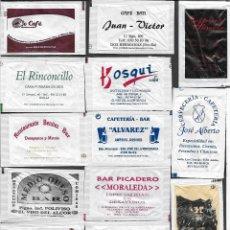 Sachets de sucre de collection: 13 SOBRES DE AZÚCAR NOMINATIVOS. Lote 175853360