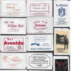 Sachets de sucre de collection: 13 SOBRES DE AZÚCAR NOMINATIVOS. Lote 175853380