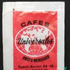 Sobres de azúcar de colección: SOBRE DE AZÚCAR DE CAFÉS UNIVERSALES - PRATS MERCADER. Lote 177372734