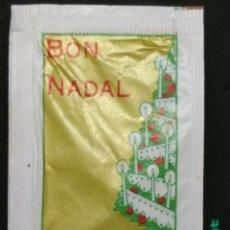 Sobres de azúcar de colección: SOBRE DE AZÚCAR SERIE NAVIDAD - BON NADAL - FELICIDADES. BARA EZQUERRA, 8 GR.. Lote 177461483