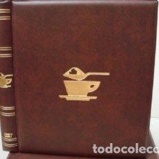 Sobres de azúcar de colección: ALBUM SOBRES DE AZUCAR. TAMAÑO 27X33 CM. 4 ANILLAS. COLOR CUERO. LUXE.. Lote 178125814