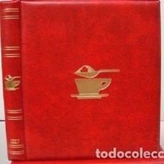 Sobres de azúcar de colección: ALBUM SOBRES DE AZUCAR. TAMAÑO 27X33 CM. 4 ANILLAS. COLOR ROJO.LUXE.. Lote 178129402