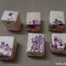 Sobres de azúcar de colección: LOTE DE 6 TERRONES DE AZUCAR SIN ABRIR ~ TRAJES TIPICOS ~ AÑOS 60/70 ( ANUSCA , ORENSE )LEER ANUNCIO. Lote 178214496