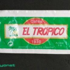 Sobres de azúcar de colección: SOBRE DE AZÚCAR DE CAFÉS EL TRÓPICO. COMASUCAR, 9 GR.. Lote 179385556