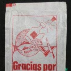 Sobres de azúcar de colección: SOBRE DE AZÚCAR GENÉRICO - GRACIAS POR SU VISITA. R. LOPERA, 10 GR.. Lote 179945091