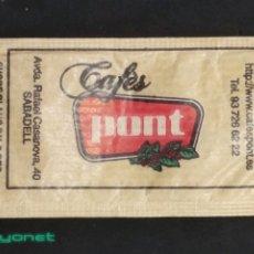 Sobres de azúcar de colección: SOBRE DE AZÚCAR DE CAFÉS PONT. SUCRES DEL TER, 8 GR.. Lote 180079188