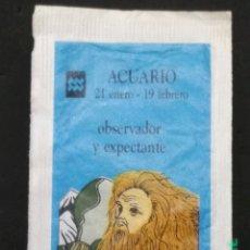 Sobres de azúcar de colección: SOBRE DE AZÚCAR SERIE HORÓSCOPOS - ACUARIO. BRASILIA, 10 GR.. Lote 180079536
