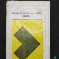 Sobres de azúcar de colección: SOBRE DE AZÚCAR SERIE PASATIEMPOS - FIGURA. BARA EZQUERRA, 10 GR.. Lote 180080691