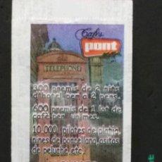 Sobres de azúcar de colección: SOBRE DE AZÚCAR DE CAFÉS PONT SERIE OBRE I GUANYA - LONDRES. SUCRES DEL TER, 8 GR.. Lote 180080986