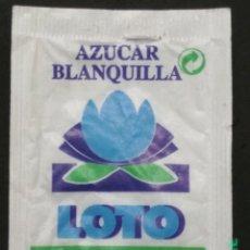 Sobres de azúcar de colección: SOBRE DE AZÚCAR LOTO. CAFÉS CARECA, 7 GR.. Lote 180081336