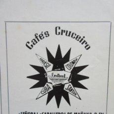 Sobres de azúcar de colección: PUBLICIDAD 1987 - CAFES CRUCEIRO . Lote 180258503