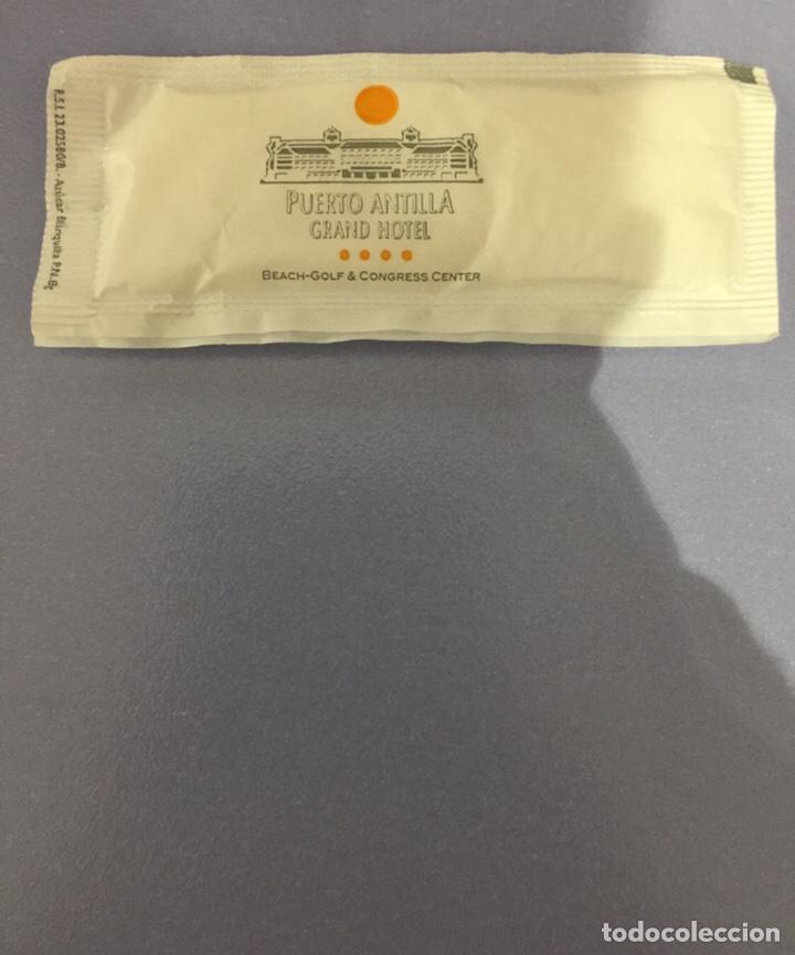 Sobres de azúcar de colección: Sobre de azúcar lleno de puerto antilla Grand hotel - Foto 2 - 181725065