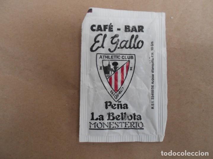 SOBRE AZUCAR CAFE BAR EL GALLO-PEÑA LA BELLOTA ATHLETIC CLUB BILBA-VACIOO (Coleccionismos - Sobres de Azúcar)