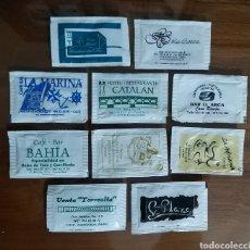 Sobres de azúcar de colección: 10 SOBRES DE AZÚCAR CÁDIZ PUERTO REAL MEDINA BARES RESTAURANTES HOTELES. Lote 183607158