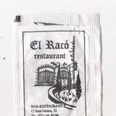 Sobres de azúcar de colección: SOBRE AZÚCAR - EL RACÓ RESTAURANT - ISONA (LLEIDA). Lote 183761830