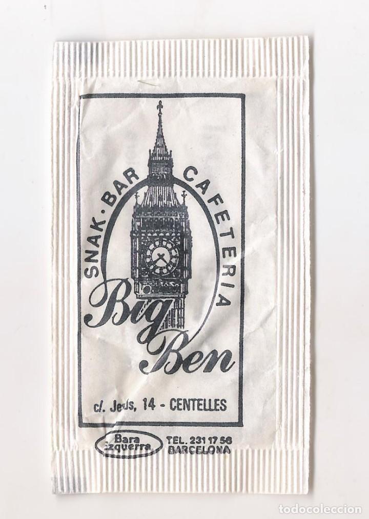 SOBRE AZÚCAR - BAR BIG BEN ( CENTELLES ) (Coleccionismos - Sobres de Azúcar)