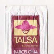 Sobres de azúcar de colección: ANTIGUO SOBRE AZÚCAR - TALSA BARCELONA. Lote 184825510