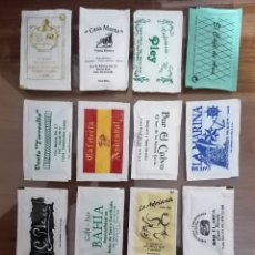 Sobres de azúcar de colección: 16 SOBRES DE AZÚCAR. ESPECIAL COLECCIONISTAS. PROVINCIA DE CÁDIZ. HOTELES, BARES, RESTAURANTES.. Lote 186450427