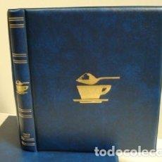 Sobres de azúcar de colección: ALBUM SOBRES DE AZUCAR. TAMAÑO 27X33 CM. 4 ANILLAS. COLOR AZUL.LUXE. Lote 187199143