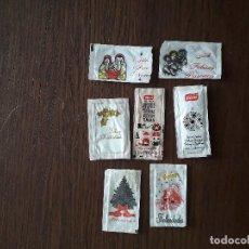 Sobres de azúcar de colección: LOTE DE 7 SOBRES DE AZUCAR VACIOS CON FELICITACIONES NAVIDEÑAS.. Lote 188758463