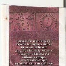 Sobres de azúcar de colección: SOBRE AZÚCAR. CAFÉ BRASIL IGUAZU. EL TEMPLO DEL CAFÉ. 25-1398. Lote 190290082