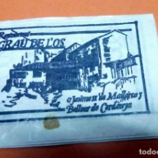 Sobres de azúcar de colección: SOBRE AZÚCAR - RESTAURANT GRAU DE L'OS - BELLVER DE CERDANYA - (VER FOTOS) - VACÍOS. Lote 191607255