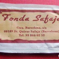 Sobres de azúcar de colección: ANTIGUO SOBRE AZÚCAR - FONDA SAFAJA - ST. QUIRZE SAFAJA - VACÍOS - (VER FOTOS). Lote 191855241