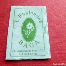 Sobres de azúcar de colección: ANTIGUO SOBRE AZÚCAR - L'ENGLANTINA - BAGÀ - VACÍOS - (VER FOTOS). Lote 191857945