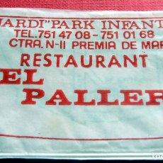 Sobres de azúcar de colección: ANTIGUO SOBRE AZÚCAR - RESTAURANT EL PALLER - PREMIA DE MAR - VACÍOS - (VER FOTOS). Lote 191857990
