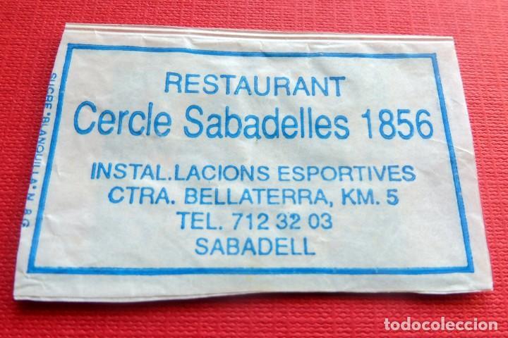 ANTIGUO SOBRE AZÚCAR - RESTAURANT CERCLE SABADELLES 1856 - SABADELL - VACÍOS - (VER FOTOS) (Coleccionismos - Sobres de Azúcar)