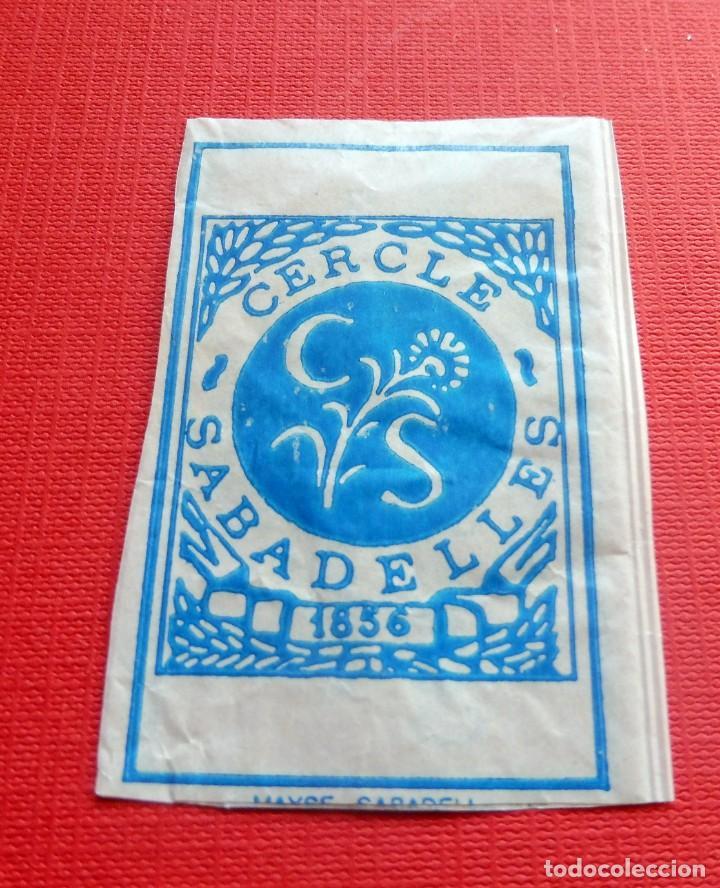 Sobres de azúcar de colección: ANTIGUO SOBRE AZÚCAR - RESTAURANT CERCLE SABADELLES 1856 - SABADELL - VACÍOS - (VER FOTOS) - Foto 2 - 191858038