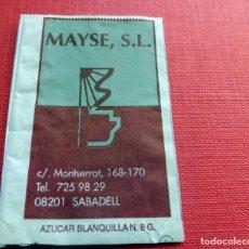 Sobres de azúcar de colección: ANTIGUO SOBRE AZÚCAR - MAYSE S.L. - SABADELL - VACÍOS - (VER FOTOS). Lote 191858092