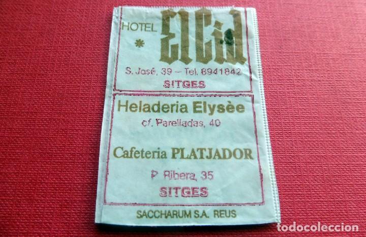 ANTIGUO SOBRE AZÚCAR - HOTEL EL CID - SITGES - VACÍOS - (VER FOTOS) (Coleccionismos - Sobres de Azúcar)