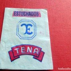 Sobres de azúcar de colección: ANTIGUO SOBRE AZÚCAR - ESTUCHADOS TENA - VACÍOS - (VER FOTOS). Lote 191858245