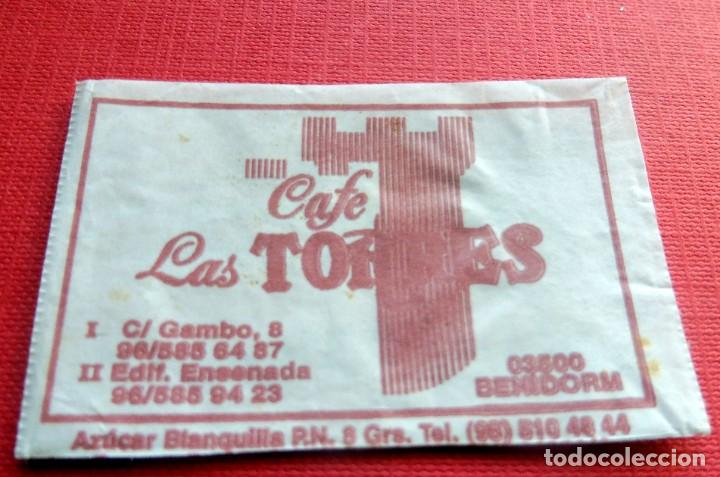 ANTIGUO SOBRE AZÚCAR - CAFÉ LAS TORRES - BENIDORM - VACÍOS - (VER FOTOS) (Coleccionismos - Sobres de Azúcar)
