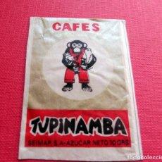 Sobres de azúcar de colección: ANTIGUO SOBRE AZÚCAR - CAFÉS TUPINAMBA - VACÍOS - (VER FOTOS). Lote 191858321