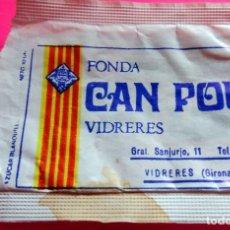 Sobres de azúcar de colección: SOBRE AZÚCAR - HOSTAL RESTAURANT CAN POU - VIDRERES - GIRONA - (VER FOTOS) - . Lote 194519856